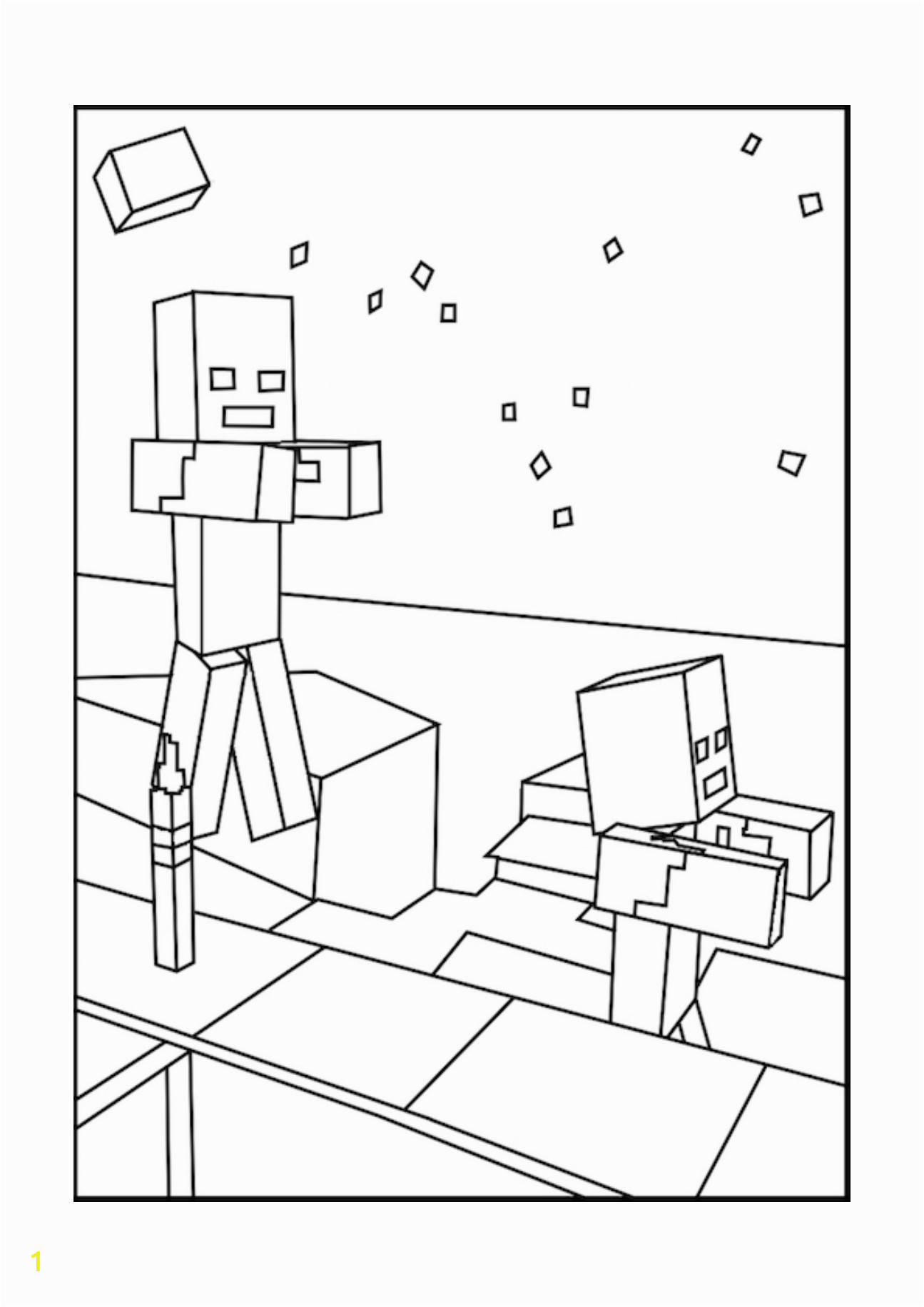 aff a7141f3313f82af zombie minecraft coloring pages free printable minecraft 1295 1832