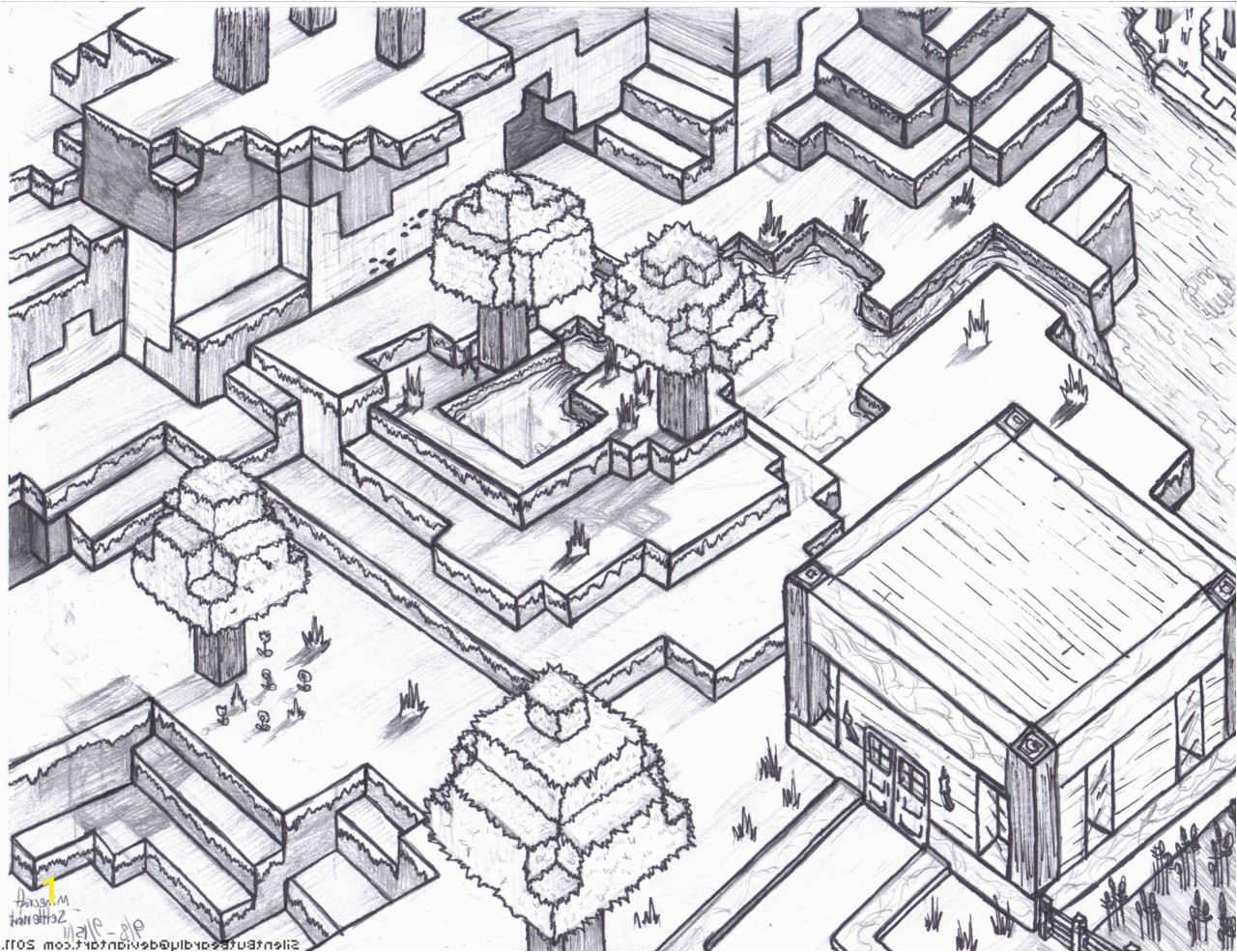 d1cfbff80d07ea0ea1bd64d9f70 28 collection of minecraft house coloring pages high quality 1280 985