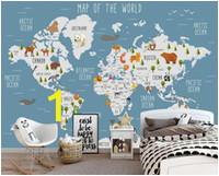custom wallpaper cartoon world map tv background