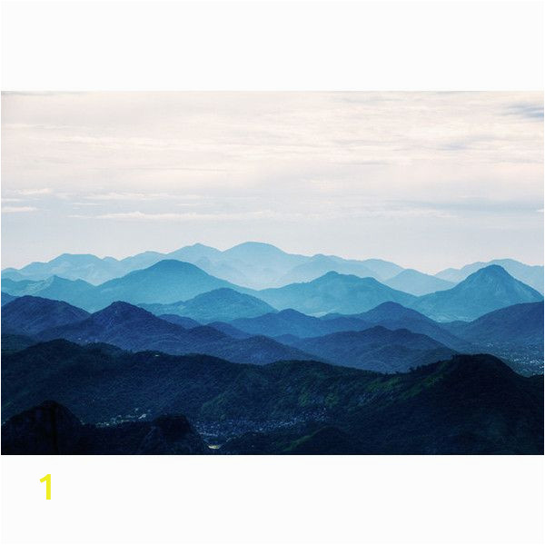 Misty Mountain Wall Mural Misty Mountain Wallpaper Foggy Mountain Silhouette Wall