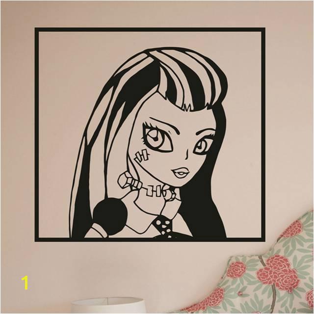 Cartoon Movie Monster High Wall Stickers Monster High Draculaura Girls Wall Art Vinyl Decal Sticker Mural 640x640q70
