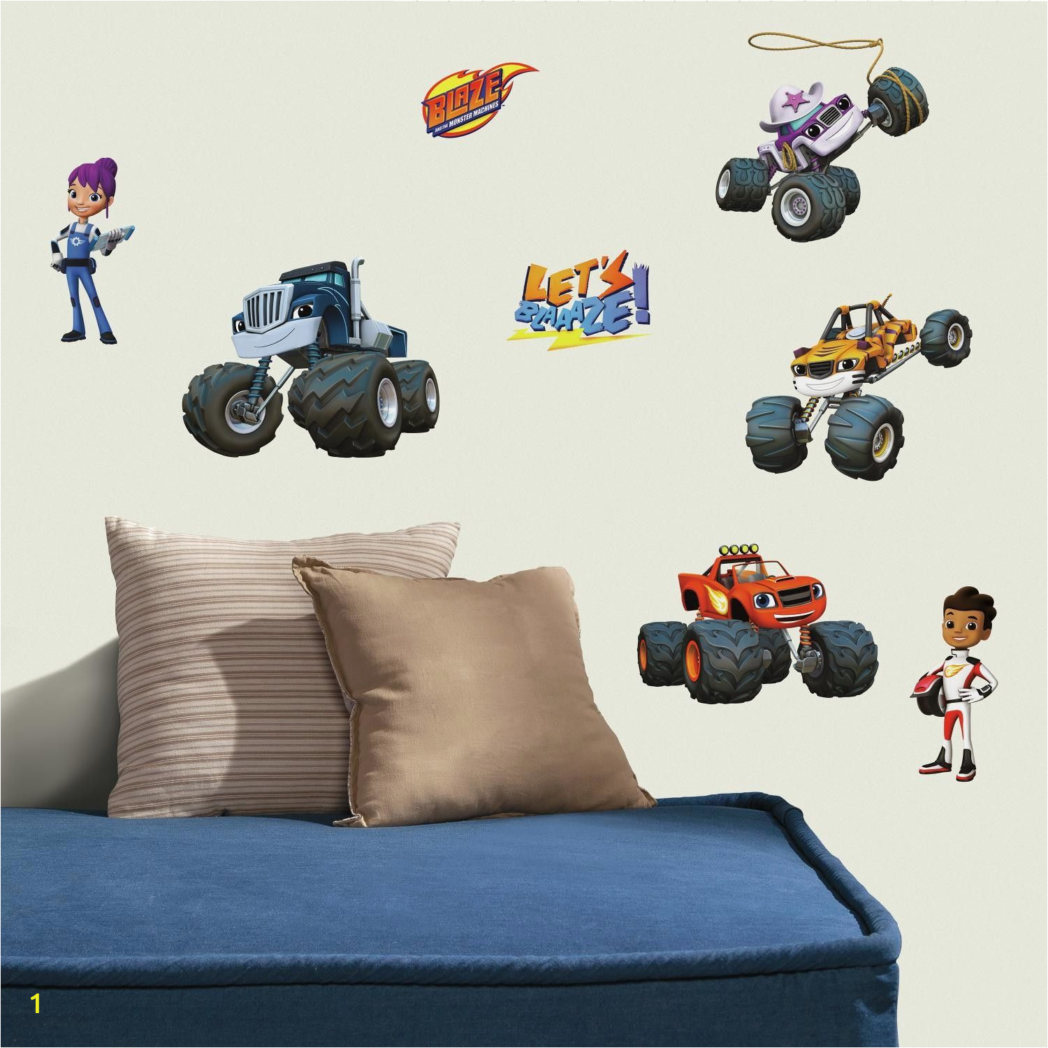 Monster Truck Wall Mural Blaze and the Monster Machines Peel and Stick Wall Decal