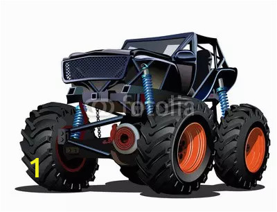 cartoon monster truck available eps 10 separated by groups and layers for easy edit webp