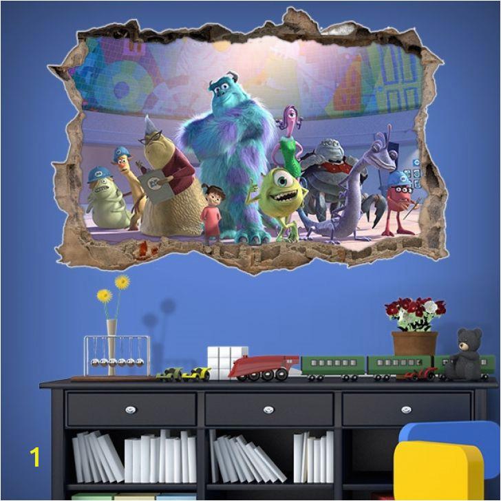 Monsters Inc Wall Mural Monsters Inc All Monsters Hd Wallpaper