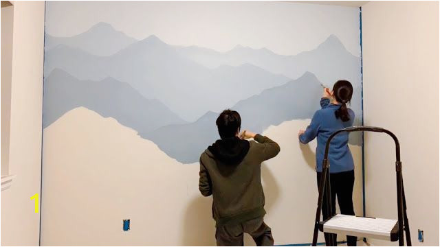 Mountain Wall Mural Diy How to Paint A Mountain Mural On Your Bedroom or Nursery