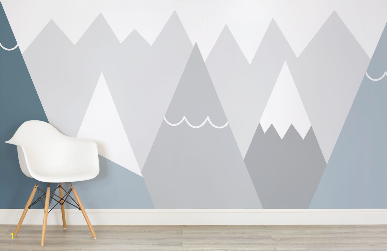 Mountain Wall Mural Kids Kids Blue and Gray Mountains Wall Mural