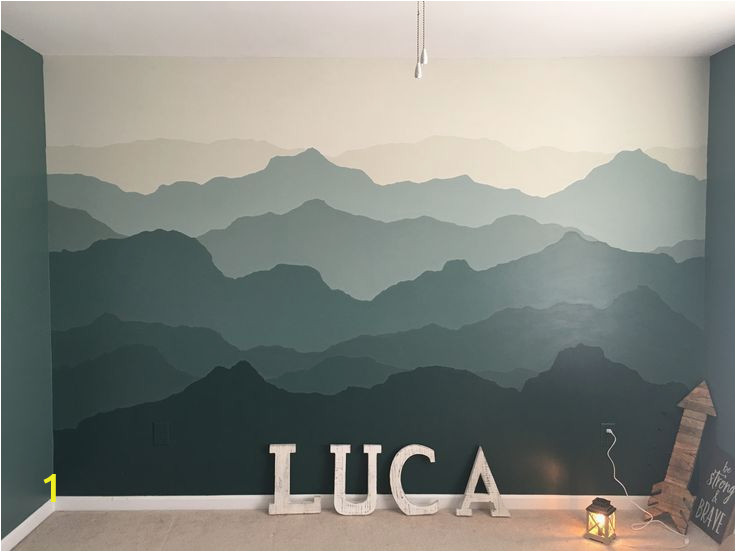Mountain Wall Mural Nursery Mountain Mural Nursery Wall