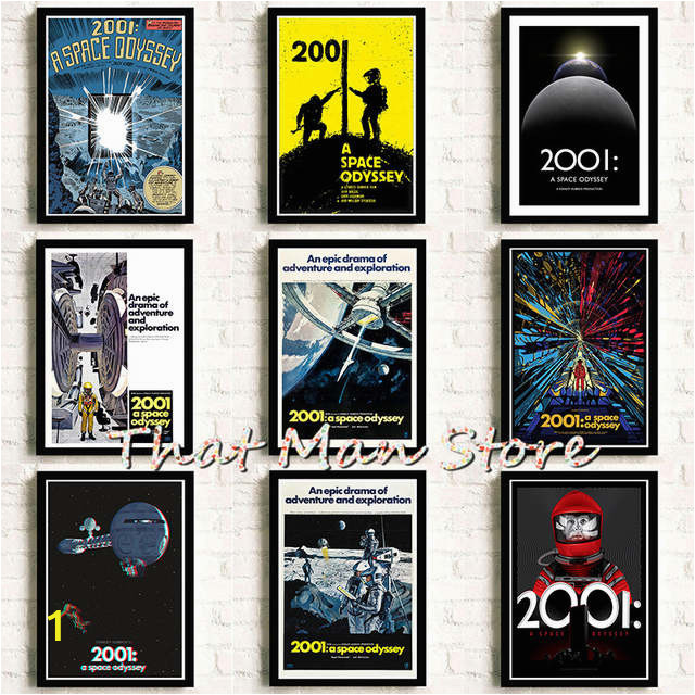 2001 Space Odyssey 1968 Movie Art Poster Print Home Wall Decor A3 640x640q70
