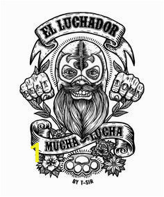 Mucha Lucha Coloring Pages El Luchador Mucha Lucha Oscar Postigo
