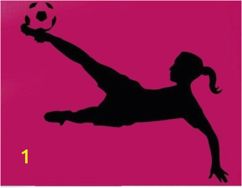 New 2018 Football Player Vinyl Wall sticker Sport Soccer Girl Plaing Football Mural Art Wall Decal