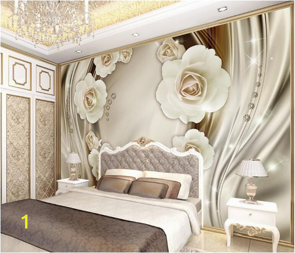 Mural Canvas Wall Covering 3d 3d Rose Flower Gold Mural Wallpaper Murals Wall Paper for Living Room Home Wall Decor European Floral Wall Papers Best Hq Wallpapers Best