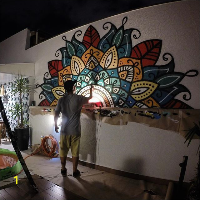 Mural On A Wall Pin by Perperdepero On Mandala