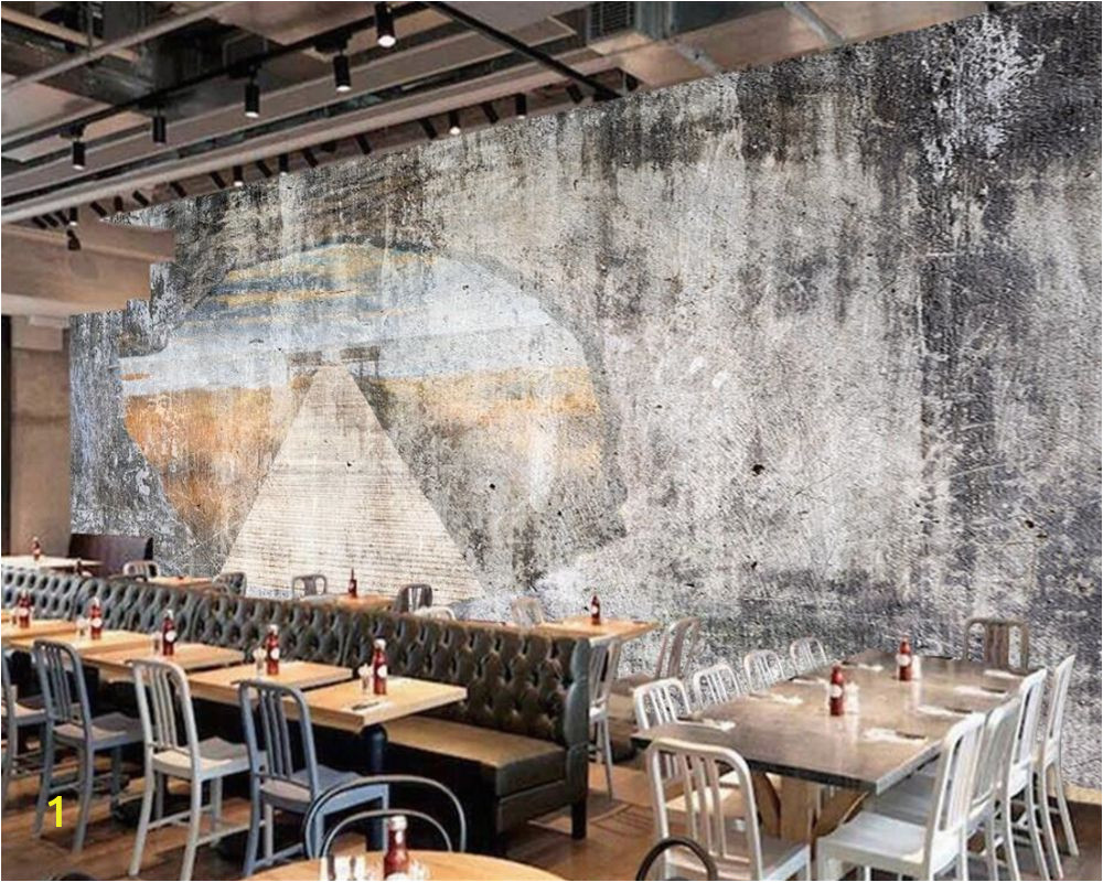 Mural On Concrete Wall Beibehang Custom Wallpapers Home Decoration Murals Retro