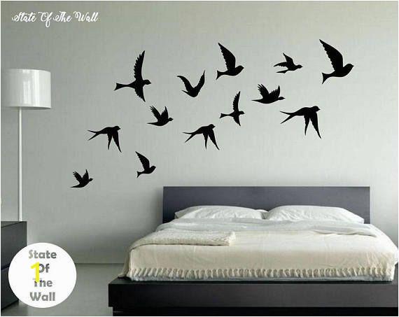 Mural Paintings for Bedroom Walls Flying Birds Wall Decal Vinyl Sticker Art Decor Bedroom