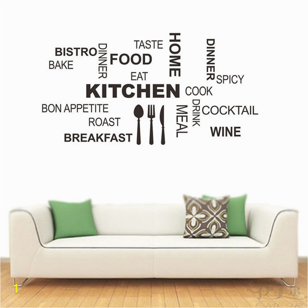 kitchen rules quote wall stickers vinyl art mural decal removable relating to kitchen words wall art of kitchen words wall art
