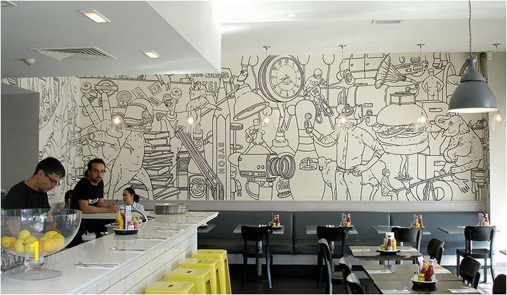 Murals for Restaurant Walls Halftone Quote Artist Writer Wall School Design Google