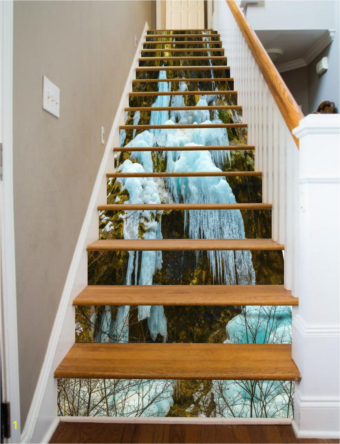 Murals for Stairway Walls 3d Ice and Snow 752 Stair Risers In 2019
