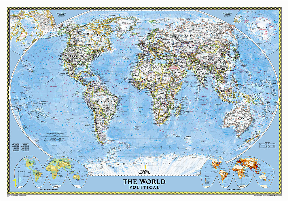 National Geographic World Map Wall Mural 1