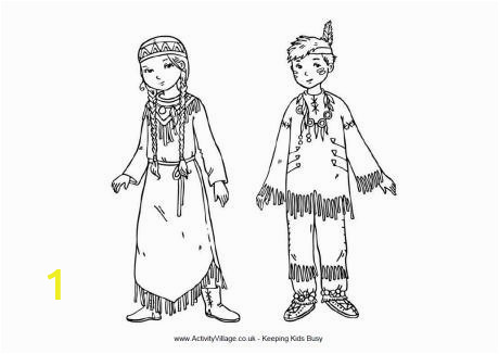 native american children colouring page native american coloring pages