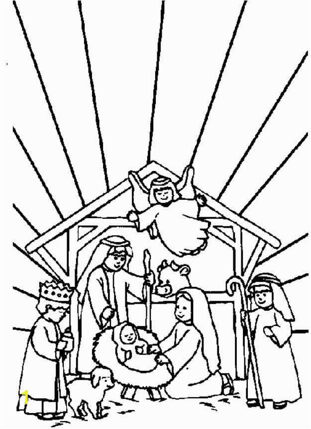 Nativity Coloring Pages for Sunday School Coloring Page Bible Christmas Story Kids N Fun