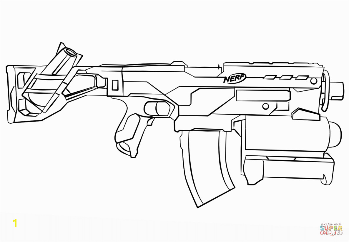 a73c5b90dc89e122e70e2362cf daring gun colouring pages nerf coloring page unknown 1186 824