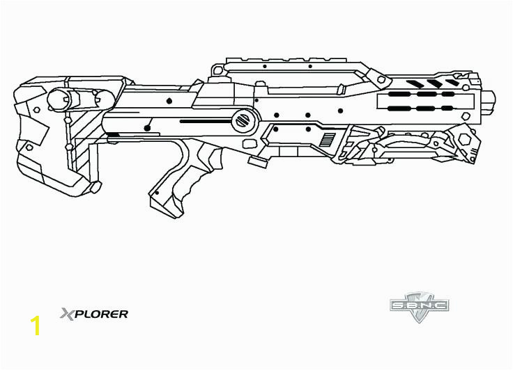 nerf gun coloring pages free printable