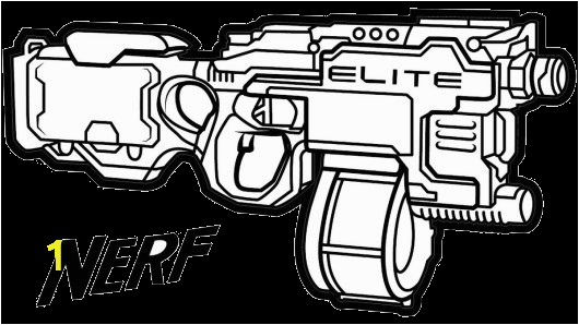 nerf gun printable coloring pages transparent