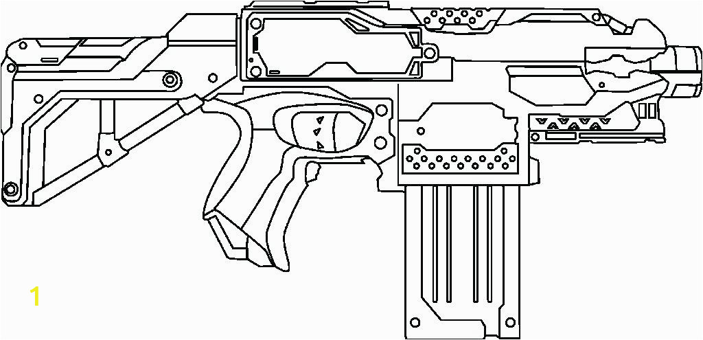 nerf gun coloring pages colouring lovely about remodel line drawings with for 2 instead printable