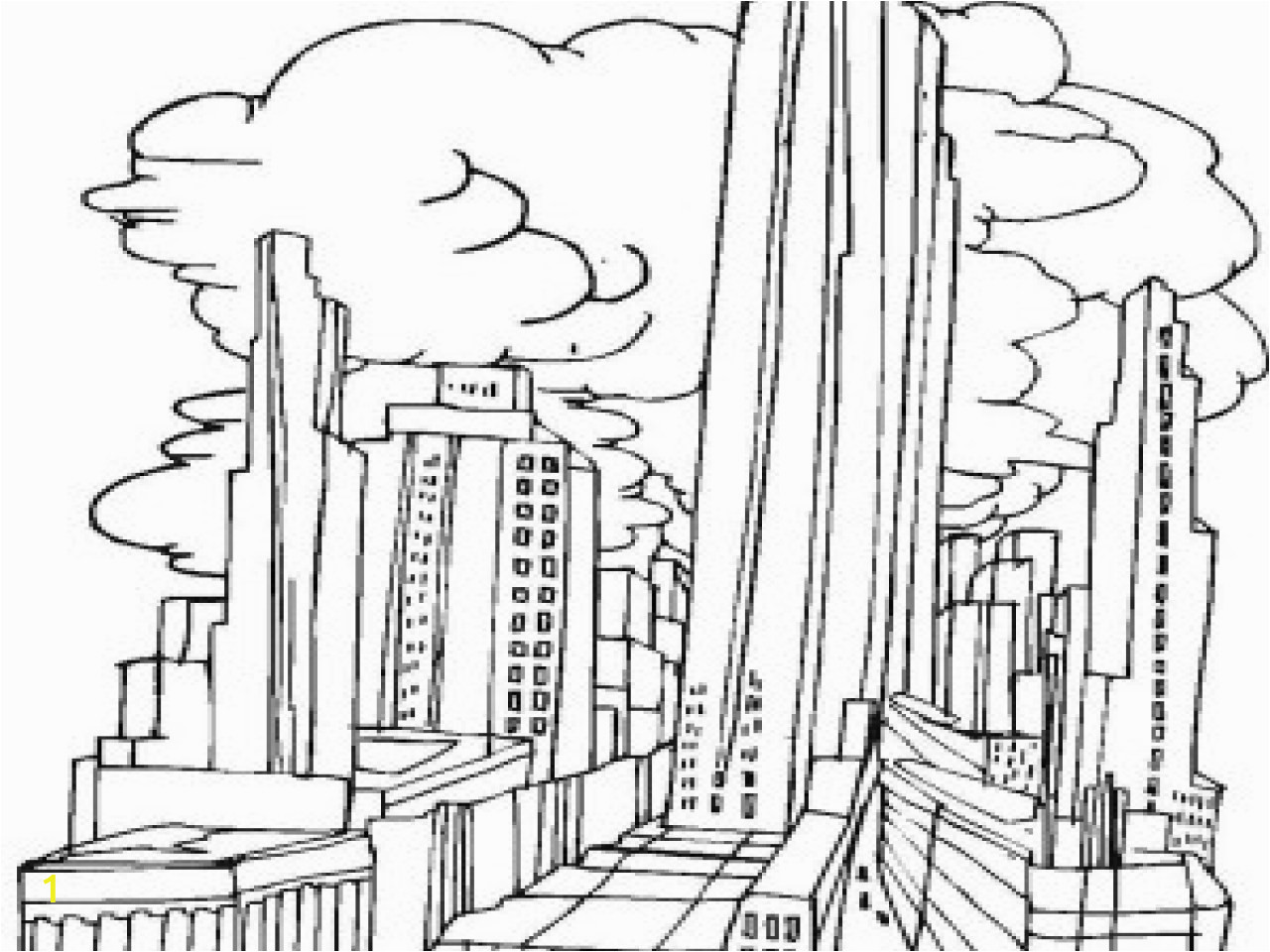 new york skyline coloring page 19