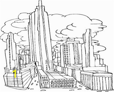 new york skyline coloring page 8