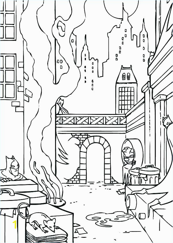 new york skyline coloring page 1