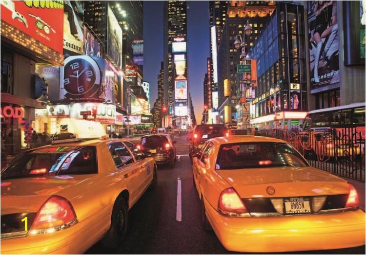 New York Times Square Wall Mural Fototapete Tapete New York Times Square Taxi Bei Europosters Kostenloser Versand