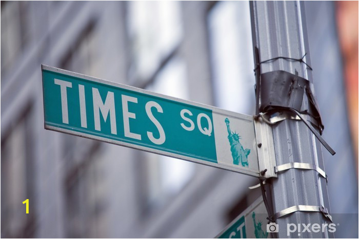 wall murals image of a street sign for times square new york