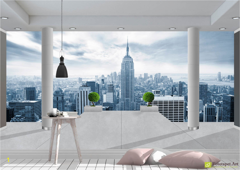 New York Wall Mural Wallpaper Digital Wallpaper City View Fototapett Digital
