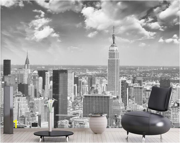 New York Wall Mural Wallpaper Papel Murals Wall Paper Black&white New York City Scenery 3d Mural Wallpaper for Living Room Background 3d Wall Mural Flower Wallpapers Flowers