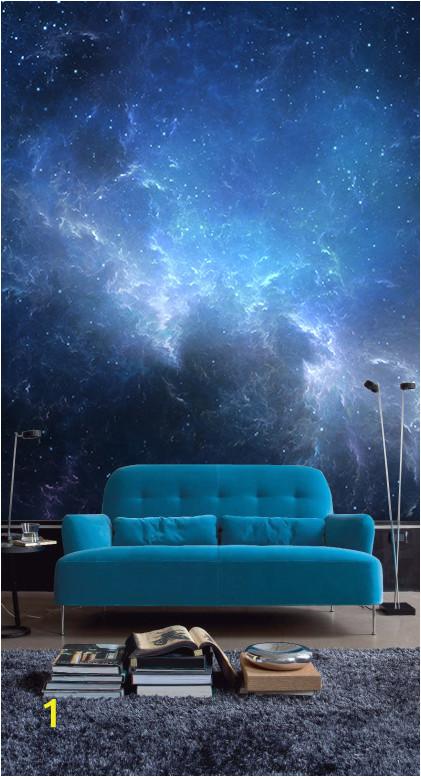 Night Sky Wall Mural Night Sky with Nebula Wall Mural