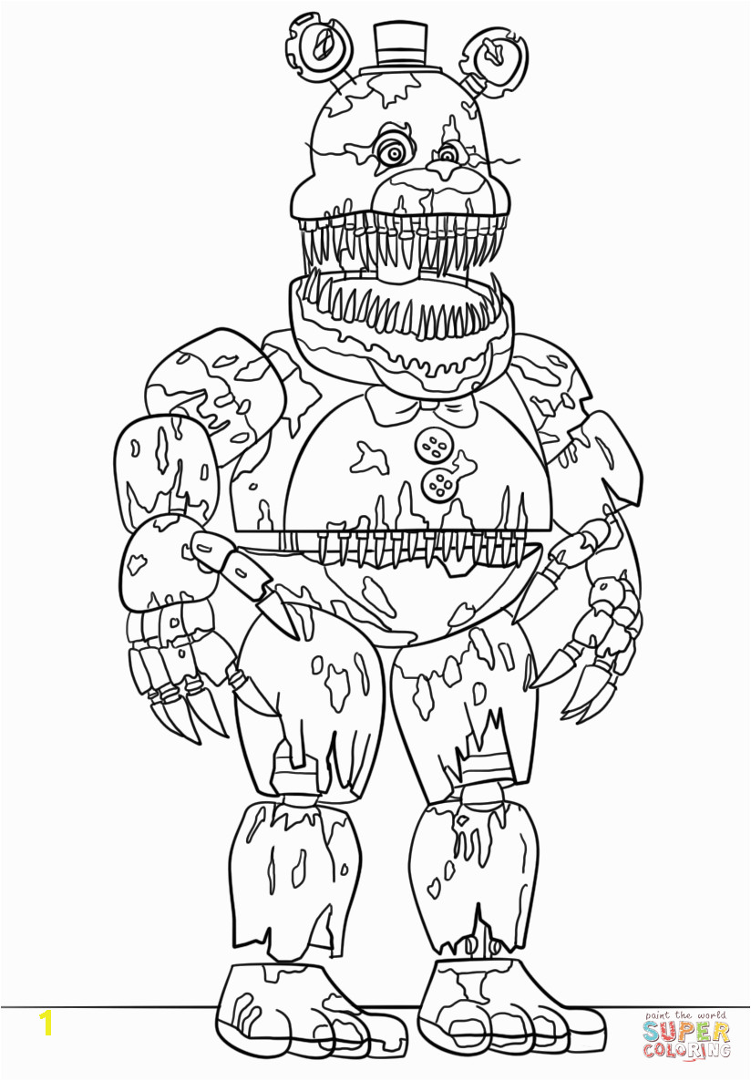06f546b e3caf08eac5f194b86a nightmare freddy coloring page free printable coloring pages 824 1186