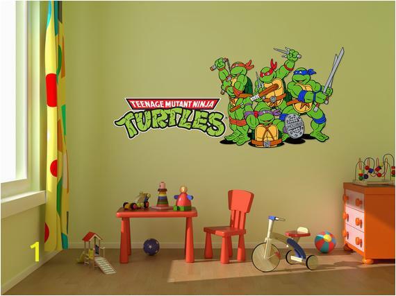 Ninja Turtle Wall Mural Ninja Turtles Room Decal Stickers Bedroom Wall Murals Ninja Turtle Decals Cartoon Wall Designs Tmnt Ninja Turtle Decal