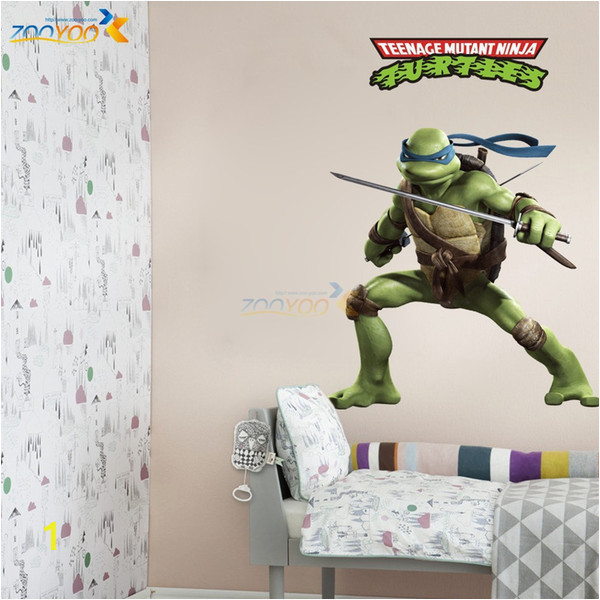 Ninja Turtle Wall Mural Teenage Mutant Ninja Turtles Europe and the United Explosion Models 85 65cm Boy Children S Room Wall Stickers to Custo Sticker Quotes for