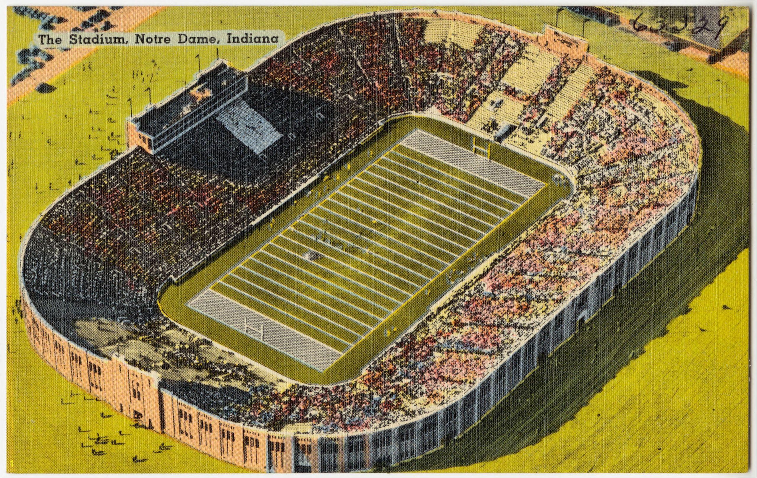 The Stadium Notre Dame Indiana %