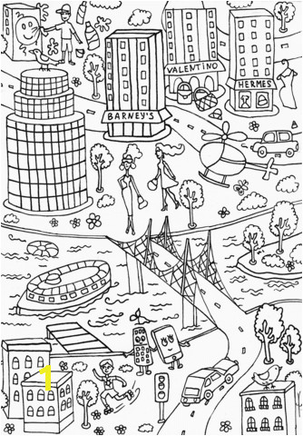 lipstick building coloring page