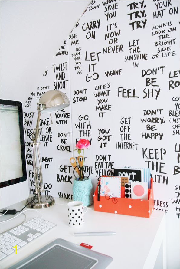 Office Wall Mural Ideas Painted Affirmations