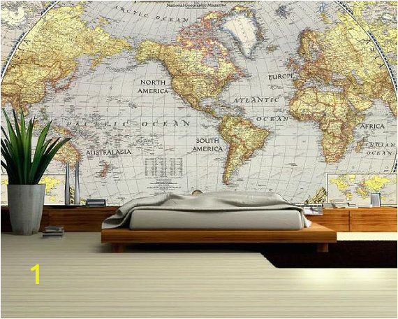 Old World Map Wall Mural World Map Wall Decal Wallpaper World Map Old Map Wall