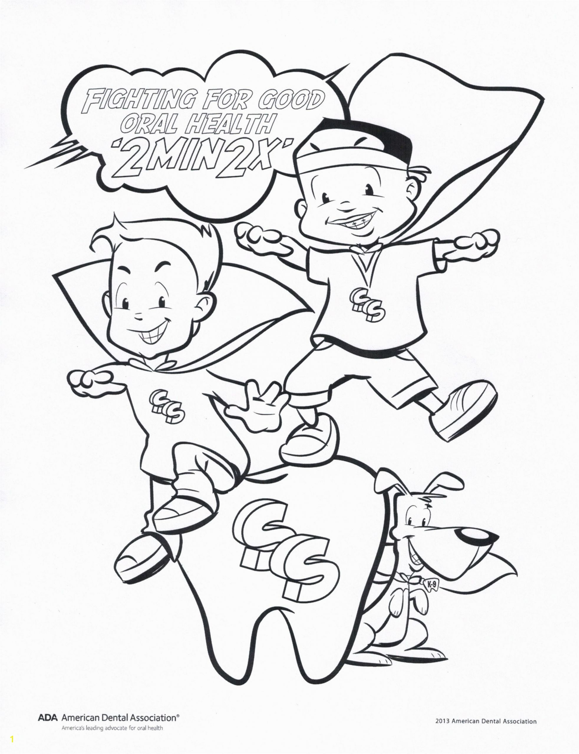 Oral Health Coloring Pages Fight for Good oral Health Coloring Page