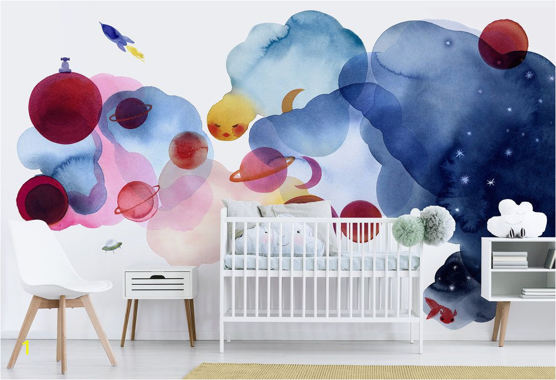 Order Wall Murals Online Water Color Space I – Wall Murals Online – Wall