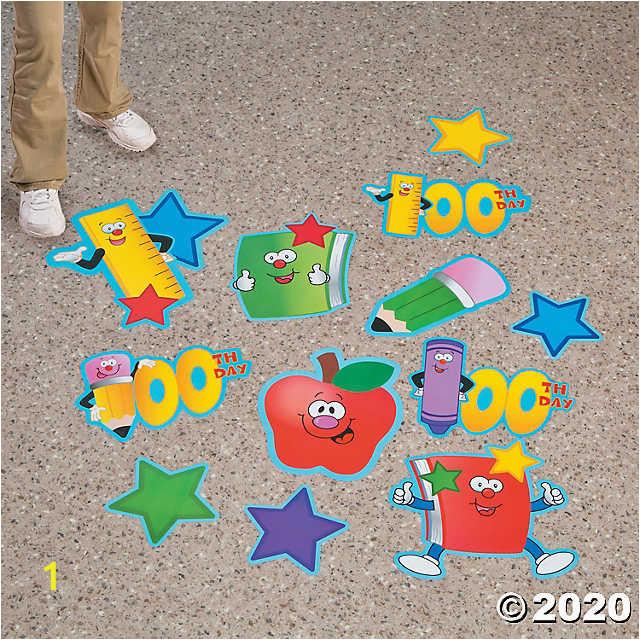 100th day of school floor clings