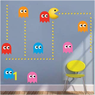 Pac Man Wall Mural Amazon Pac Man Stickers Wall Décor Baby