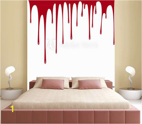 home design modern bedroom mysontuna vector red paint or blood pouring background B