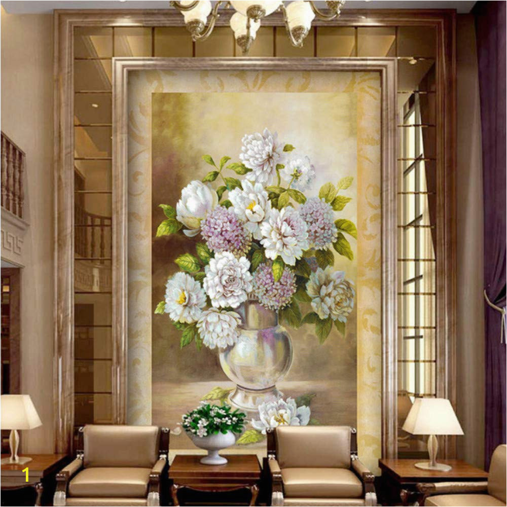 Painted Wall Mural Ideas for Living Room Amazon Xbwy European Style Vase Flower Oil Painting