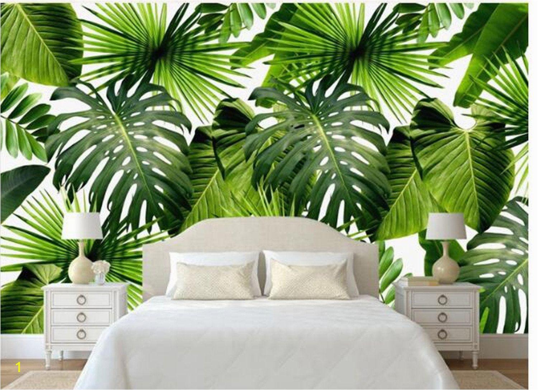 Painting A forest Wall Mural Custom Wall Mural Tropical Rain forest Wallpaper Fresh Green